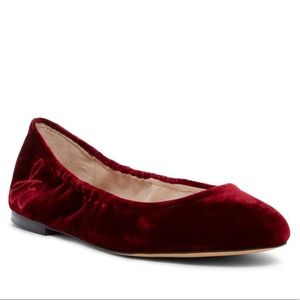 Sam Edelman Fritz Cranberry Crush Velvet Red Flats